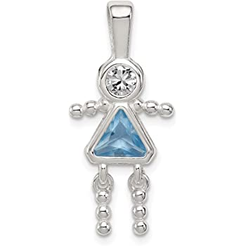 SilverBOY June Birthstone Charm Pendant Charms,Pendant and Bracelet by Easy to be happy