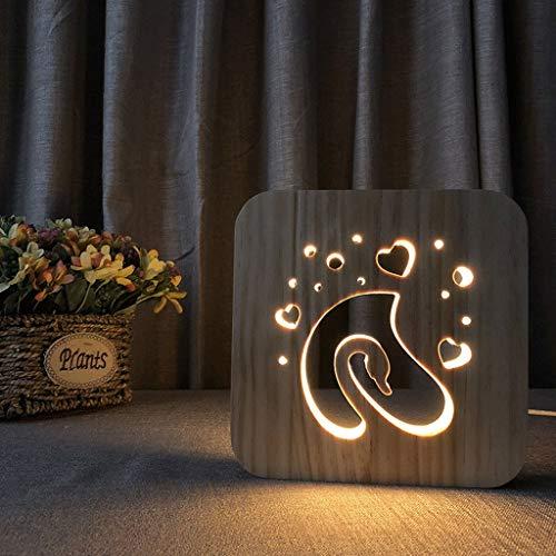 Led-houten nachtlampje, bureaulamp, nachtkastje, oogverzorging, werklicht (schommel)