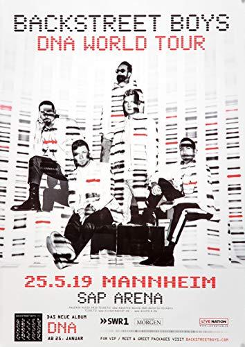 Backstreet Boys - DNA World, Mannheim 2019 » Konzertplakat/Premium Poster | Live Konzert Veranstaltung | DIN A1 «