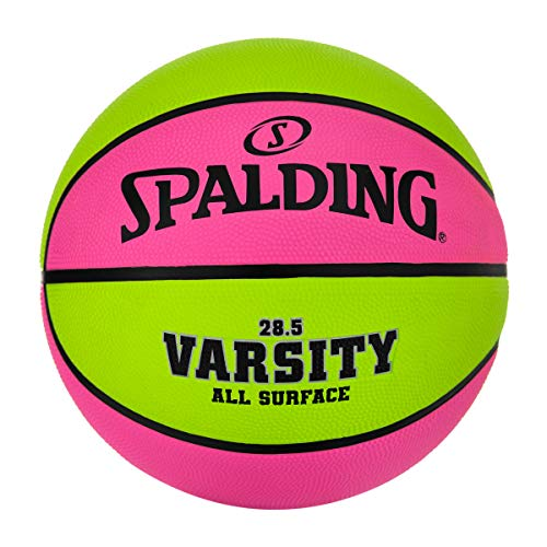 Spalding Varsity Pink/Green Outdoor Basketball 28.5'