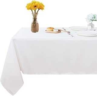 Fitable Rectangle Tablecloth 60x84 inch Tablecloth Stain and Wrinkle Resistant Washable Polyester Table Cloth, Decorative ...