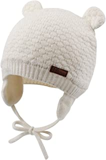 Cute Knitted Boys Girls Christmas Beanie Warm Earflap Winter Hat Infant Toddler Baby Beanie 0-2Y
