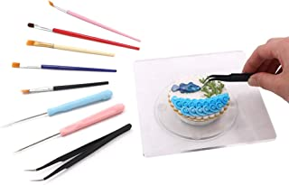 kowanii Sugar Cookie Decorating Supplies Tools Set, Cookie Turntable Swivel Stand Lazy Susan Kit, with Baking Supplies Needle, Curved Tweezer, Cookie Turntable Mat Bakeware