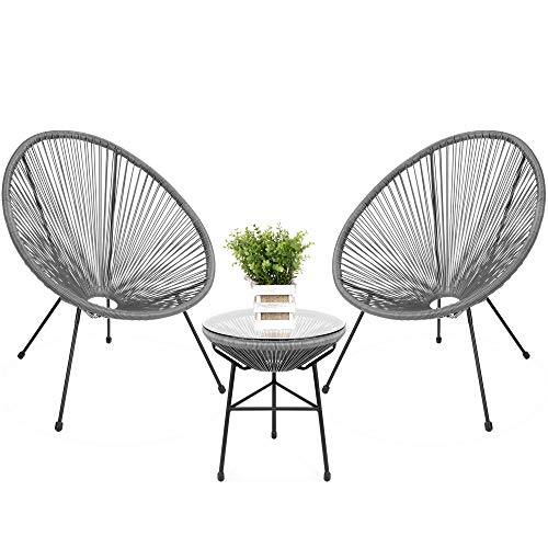 5 Pieces Wicker Outdoor Furniture Set