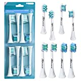 Replacement Toothbrush Heads for Philips Sonicare Electric Toothbrush,8 Pack Replacement Brush Heads with Caps Compatible with Philips Electric Sonicare(4 Types)