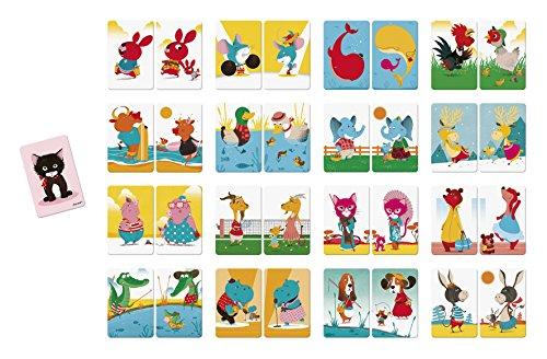 Janod J02752 Kombinationsspiel Tierfamilie Mistigri