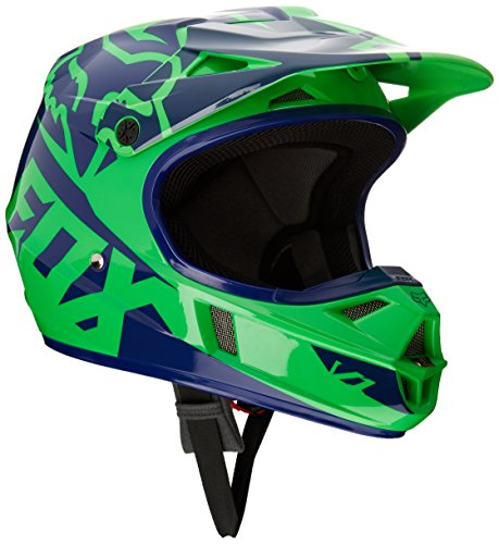 Fox Kinder Helm V1 Race Helmet, Fluo Green, M