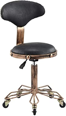 QQXX Beauty Stool European Retro Work Stool Rotary Lift Chair Upholstered Stool Multifunctional Family Living Furniture Rolle
