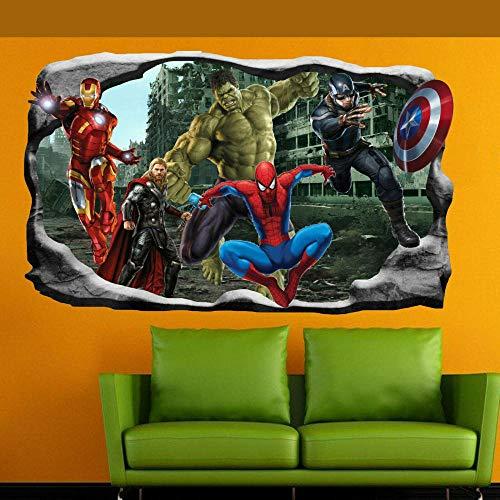 HUAXUE Hero Spider Wall Sticker Art 3D Sticker Mural Room Decoration