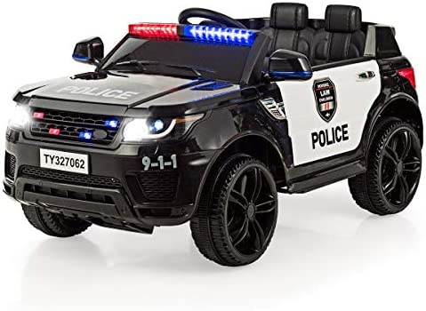 Costzon Kids Ride on Car 12V Battery Powered Electric Police Truck w 2 4G Remote Control Siren product image