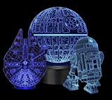 TopFlash 3D Star Wars Night Light for Star Wars Fans, 7 Color Changing Bedroom Decor with Remote & Smart Touch, 3D Hologram Lamp Birthday Gifts for Kids and Adults, Star Wars Toys for Kids Set of 3