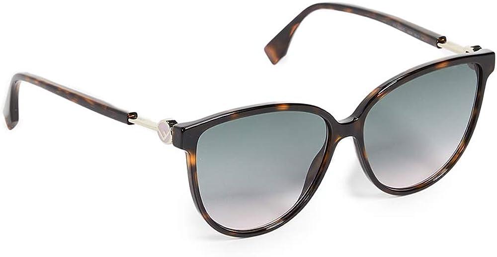 Fendi, occhiali da sole da donna, forma rotondi in acetato, lenti colore grigie 20223908659JP