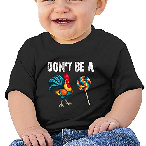 Baby Girls Infant Don't Be A Rooster Lollipop Short Sleeves Tshirt