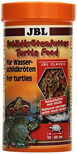 JBL Turtle Food 70363 Schildkrötenfutter, Hauptfutter für Wasserschildkröten von 10 - 50 cm, Naturfutter mit Sticks, 1er Pack (1 x 250 ml)