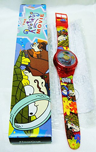 RUGRATS in PARIS FLOATING FLOWERS LCD ANGELICA Sparkle Watch-New In Box