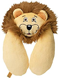 Go-Travel Kids Lion Neck Travel Pillow, Beige, 2702