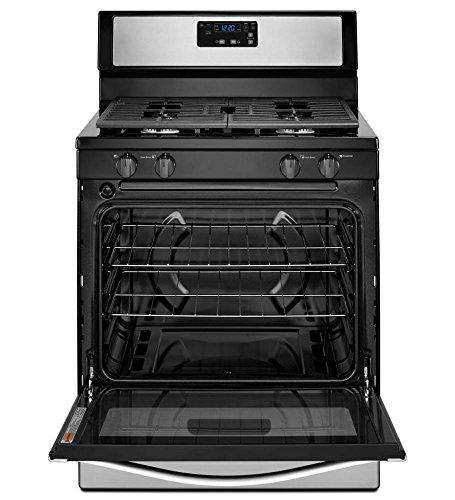 "WHIRLPOOL GIDDS-110952 30"" 5.1 cu. ft. Single Oven Free-Standing Gas Range, Black"