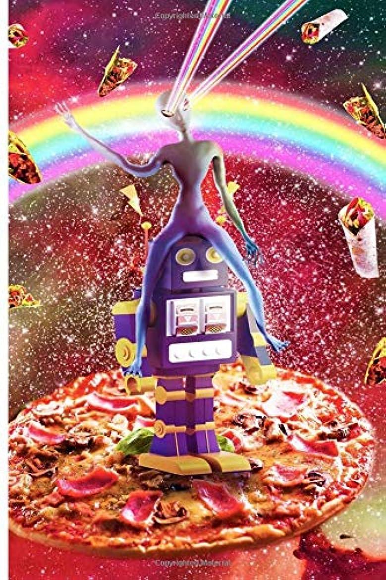 許される円周損なうLaser Eyes Outer Space Alien Riding Robot Journal Notebook