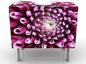 Apalis Design Vanity Aster 60x 55x 35cm, Piccolo, Largo 60cm, Regolabile, lavandino, lavabo, Rubinetto per lavabo da Bagno, Armadio, unità di Base, Bagno, Narrow, Flat