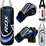 RDX Kids Punch Bag Filled Set Junior Kick Boxing Heavy MMA Training Youth Gloves Punching Mitts Hanging Chain Muay Thai Martial Arts 2FT