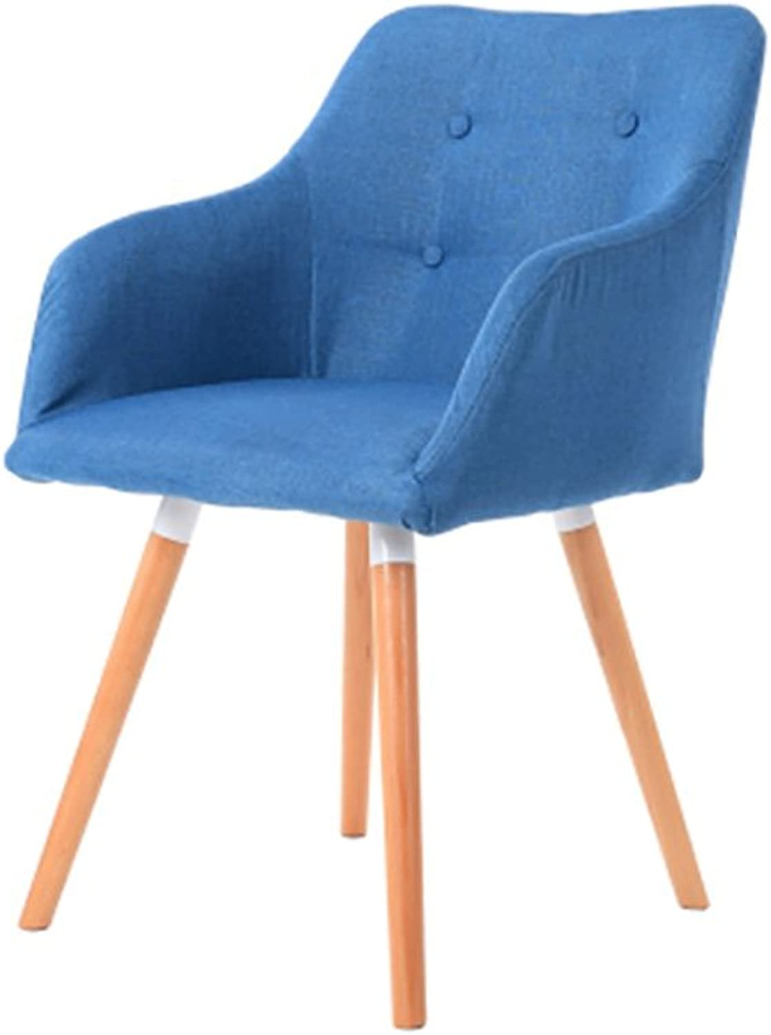 AIDELAI Bar Stool Chair- European Solid Wood Dining Chair Sofa Chair Lounge Chair Fabric Modern Minimalist Dining Chair Backrest Book Tables and Chairs (60  40  80cm) (color   I)