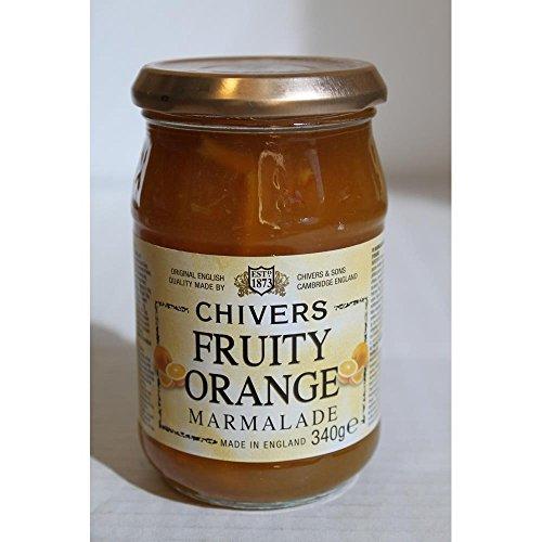 Orangen Marmelade - mit grob geschnittener Orangenschale, Chivers, 340g