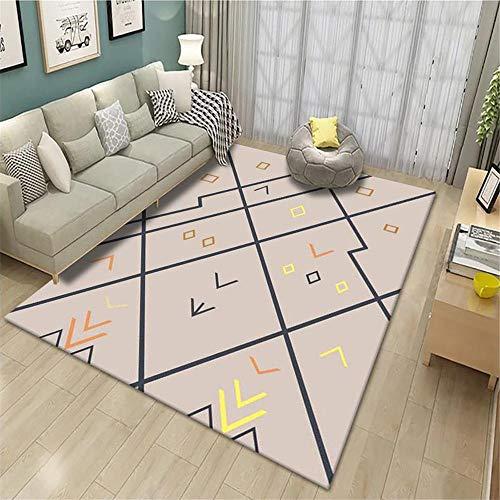 alfombras de juegos para niños Alfombra contemporánea Salón gris Dibujos animados geométrico Durable Alfombra Anti-upos Gris alfombras grandes para salon 120X160CM alfombra juvenil niño 3ft 11.2''X5ft