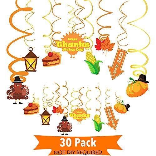 JoyTplay - Set de accesorios para el día de Acción de Gracias, 42 piezas, para el barco de fotos, para fiestas de Happy Thanksgiving