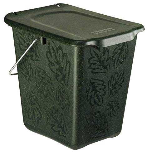 Rotho Komposteimer Greenline 7l in grün, Plastik, dunkelgrün, gross (7 Liter)