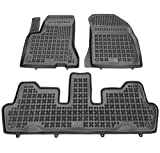 Rezaw-Plast Alfombrillas de Goma Compatible con Citroen C4 Grand Picasso I (2006-2013) + Limpiador de Plasticos (Regalo) | Accesorios Coche Alfombrilla Suelo