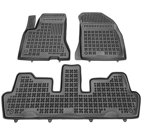 Alfombrillas de Goma Compatible con Citroen C4 Grand Picasso I (2006-2013) + Limpiador de Plasticos (Regalo) | Accesorios Coche Alfombrilla Suelo
