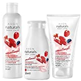 Avon Set Naturals Body Care Joghurt & Früchte Duschgel + Körperlotion + Körpercremepeeling