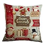 Nunubee Weihnachten Kissenbezug Dekokissen Platz Dekorative Fall Startseite Sofa Kissenbezug...