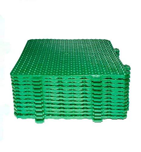 Losa tarima desmontable Náyade Block 30x30 VERDE- Pack 12 Uds. Ideal para vestuarios, piscinas, jardines, spas, peluquerías caninas.