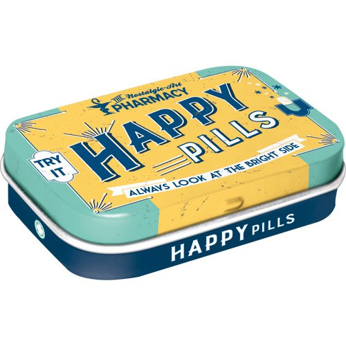 Nostalgic-Art 81330 Pillendose Happy Pills, 15 grams