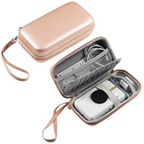 Hard Storage Carrying Travel Case Bag for HP Sprocket Portable Photo Printer, Polaroid Zip Mobile Printer, Polaroid Snap Camera - HVS (Rose Gold)