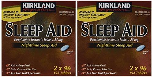 KIRKLAND SIGNATURE Sleep Aid Doxylamine Succinate 25 Mg, 384Count