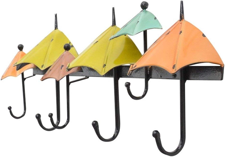 GJD Coat hooksuropean Retro Hook Wall hangingreative hat Umbrella Shape Coat Hooks, (color   B)
