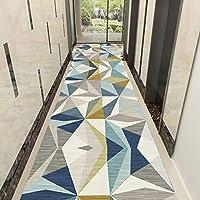 ラグ カーペット 現代の幾何学テキスタイルダートトラッパーカーペットランナーカスタムの長さの3色、廊下や回廊のための堅牢かつ効果的なラグランナー、非スリップ狭いです (Color : C, Size : 1x1m)