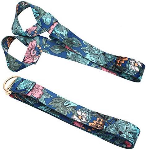 Kueimovi 2 Pack Yoga Strap Extra Long Adjustable Printed Yoga Strap and Yoga Mat Belt Holder product image