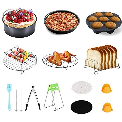 Schnellkochtopf-Zubehörset, Zubehör kompatibel mit Instant Pot5 / 6 / 8Qt - 100 Stück Pergamentpapiere, 2 Dampfkörbe, Antihaft-Springform, Brothalter, Küchenzange, Tellerclip