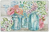 Brumlow Mills Colorful Flowers In Mason Jar Kitchen And Entryway Floral Rug, 1'8' x 2'10'