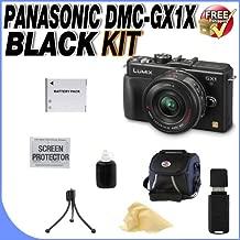 The Panasonic LUMIX DMC-GX1X Digital Camera & G X VARIO PZ 14-42mm Lens + Extended Life DMW-BLD10 Battery + Deluxe Case + SDHC Card Reader + Accessory Saver Bundle!