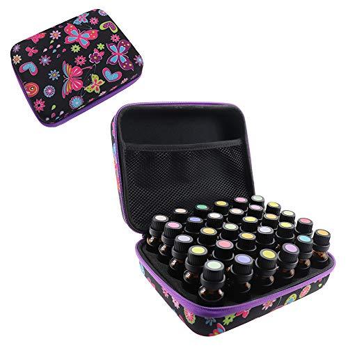 Arxus Caja de Aceite Esencial con Botellas 60/30/12 para Bolsa de Organizador...