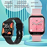 RCH Smart Watch MT28 Hombres s Full Touch Smart Watch Mujeres s Fitness Cuerpo Temperatura Ejercicio para Android (Color: B) (D)