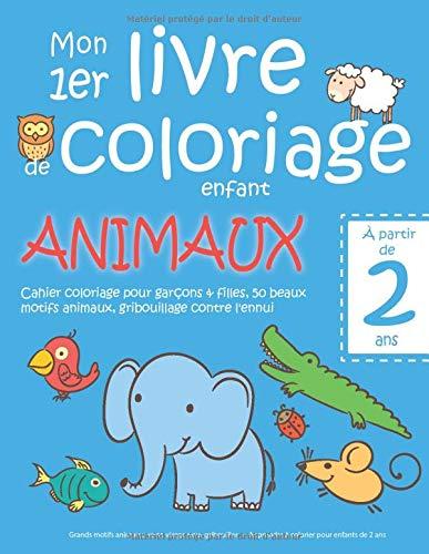 Mon 1er livre de coloriage enfant ANIMAUX — À partir de 2...