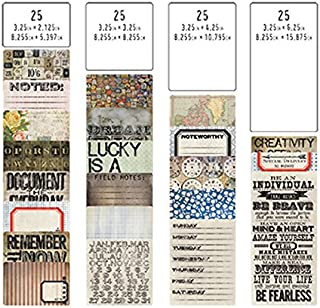 Pocket Cards by Tim Holtz Idea-ology, 100 Cards, Assorted Sizes, Multicolored
