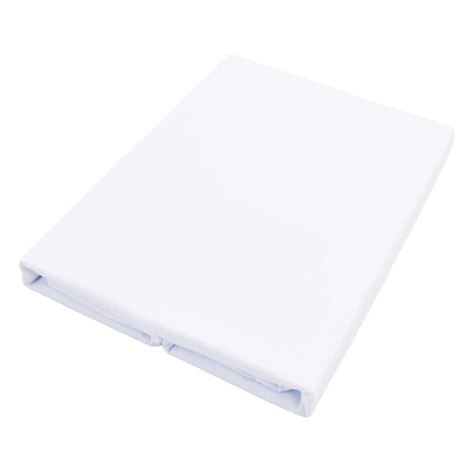 生き残りますイディオムレーザフラットシーツ シングル 綿100% 日本製 防ダニ 150X250cm オックス 厚手 ホワイト 白
