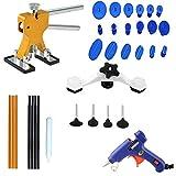 KingBra Kit d'outils de réparation de bosses sans peinture avec 5 languettes de colle 20 W Pistolet à colle chaud 18 languettes Extracteur de colle 6 bâtons de colle