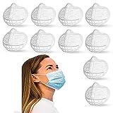 10 pezzi Staffa per maschera 3D in Silicone per maschera in silicone il naso e respirare senza intoppi, Staffa Per Il Viso Lavabile Riutilizzabile